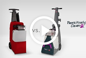 Watch our video to compare the BISSELL Pawsitively Clean vs. Rug Doctor carpet cleaning machine and see how we stack up against the competition.